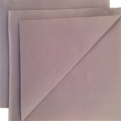 Serviette papier micropointe taupe 38x38cm par 80