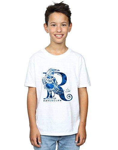 Harry Potter Jungen Ravenclaw Raven T-Shirt Weiß 9-11 Years