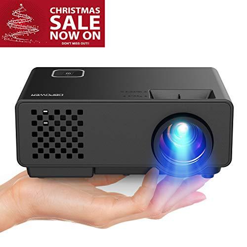 "DBPOWER Mini Beamer, 2000 Lumen HD 1080P LED Video Projektor mit 176\"" Display, 50.000 Lebensdauer, Heimkino Projektor Kompatibel mit Amazon Fire TV Stick, HDMI/VGA/AV/USB"