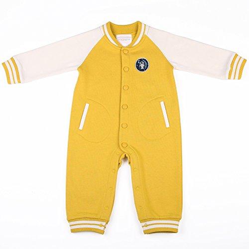 oceankids-tuta-a-coste-stile-casacca-pagliaccetti-giallo-da-bambino-e-bambina-misura-9-12-mesi