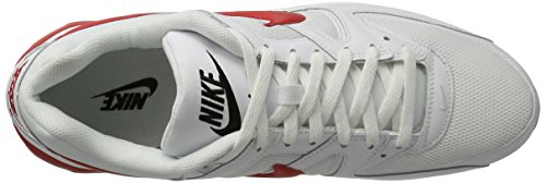 Nike Air Max Command, Sneakers Basses Homme Blanc (Blanc/Universityrouge/Noir)