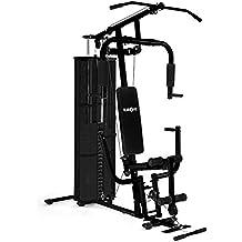 Klarfit Ultimate Gym 3000 stazione fitness (con 7 dischi da 6 kg e un peso principale da 4,5 kg, bicipiti, addominali, schiena) - nero