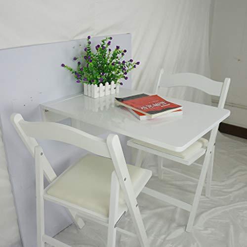Ailjcz ailj Wandtisch, Klapp Den Esstisch, Tabelle, Esstisch Aus Massivem Holz, Rechteckiger Wandtisch, Schreibtisch, Computertisch (Farbe : Weiß, größe : 70cm*45cm) - Klapp-esstisch