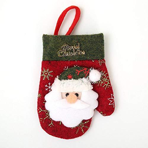 GUANAI Handschuhe Santa Rentier Weihnachten Handschuhe Weihnachtsbaum Hängehandschuhe Schneemann Muster Neujahrs Pocket Party Familie Kinder Geschenk Weihnachtsmann -