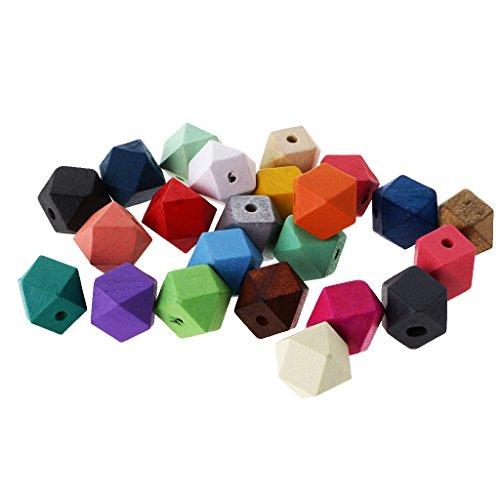 FITYLE 23 Stücke Holzperlen lose Perlen Schmucksachen für Unisex Halskette Armband und Andere Schmuck Herstellung