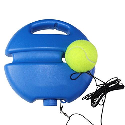Fansport Tennis Trainer, Tennis Training Werkzeug Selbst Studie Übung Tennis Ball Rebound Ball Baseboard Sparring Gerät (Blue)
