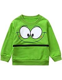 erthome,Baby Mädchen Jungen Tops Shirt Kleidung Langarm Cartoon Augen Soft Shirt