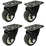 "Impoda 4 x Small 1.5"" Single Wheel PU Castor / 150kg Load Capicity (Brown)"