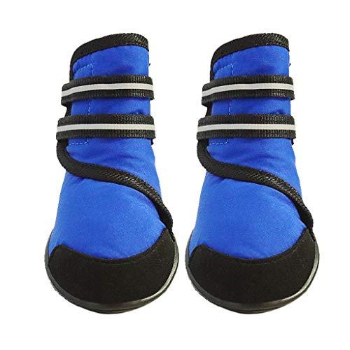 ZJOUJ Regenstiefel- Wasserdichte Regenstiefel für große Haustiere in den vier Jahreszeiten, wasserdichte Fußabdeckung für Haustiere (Farbe : Blau, größe : M)