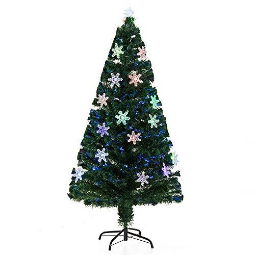 HOMCOM Árbol de Navidad 90cm Artificial Árbol de Pino Decoración Navideña con 12 LED de 3...