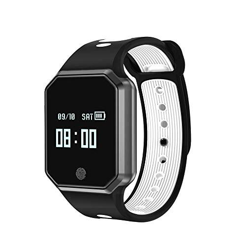 Intelligente Uhr Armband Wasserdichter Herzfrequenz Blutdruck Oximeter Gurt Abziehbar Weiß