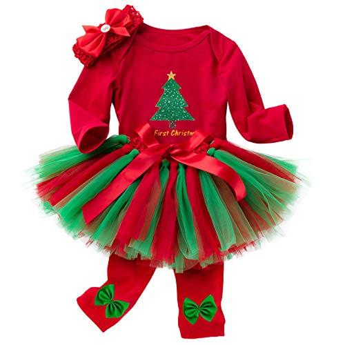 SPFAZJ Nouveau 0-2-year-old Baby Noël Hardy à Manches Longues pour Enfants Ensemble Robe Costume