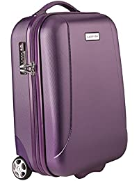 Carryon skyhopper de mano Pack 52cm 2rollos rígida TSA Viaje maletín Lila