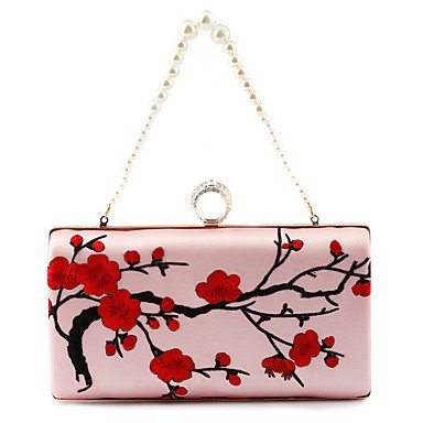 pwne L. In West Frauen'S Mode Blumen Bestickt Abendessen Pakete Cheongsam Taschen Blushing Pink