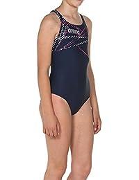arena Mädchen Sport Badeanzug Glimmer (Schnelltrocknend, UV-Schutz UPF 50+, Chlor- /Salzwasserbeständig)