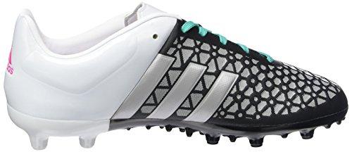 adidas Ace 15.3 Fg/Ag, Chaussures de Football Compétition Mixte Enfant Noir - Schwarz (Core Black/Matte Silver/Shock Mint S16)