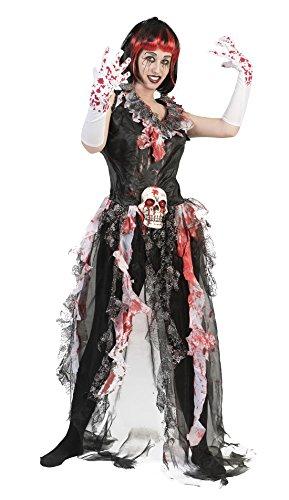 Karnevalsbud - Damen Halloween Karneval Kostüm Set Splatter Vodoo Vera, One Size, Mehrfarbig