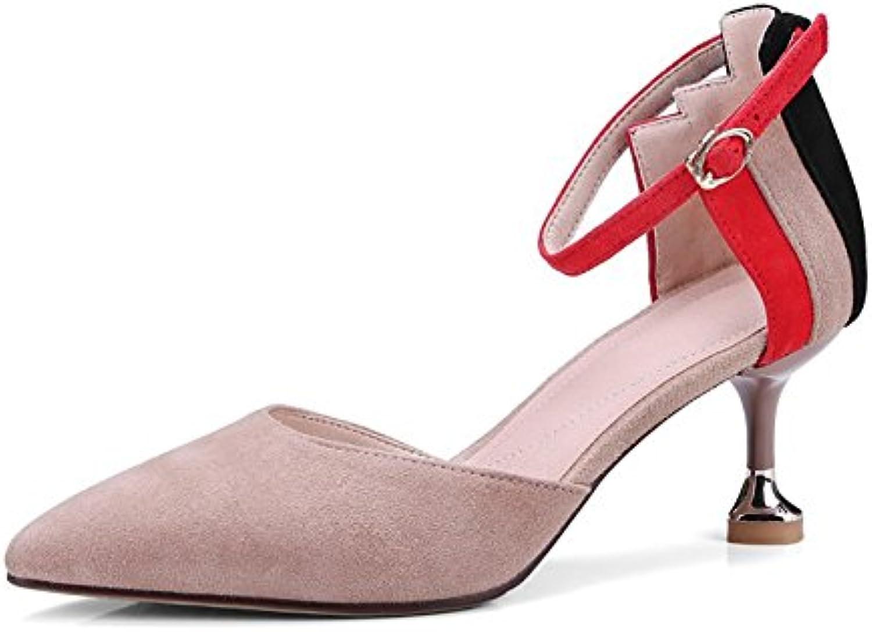 ZJM- Gattino Sandalo Tacco Tacco Tacco a spillo in pelle da donna in pelle Scarpe da lavoro Scarpe tacco alto da sposa regalo... | all'ingrosso  | Maschio/Ragazze Scarpa  25b8bf