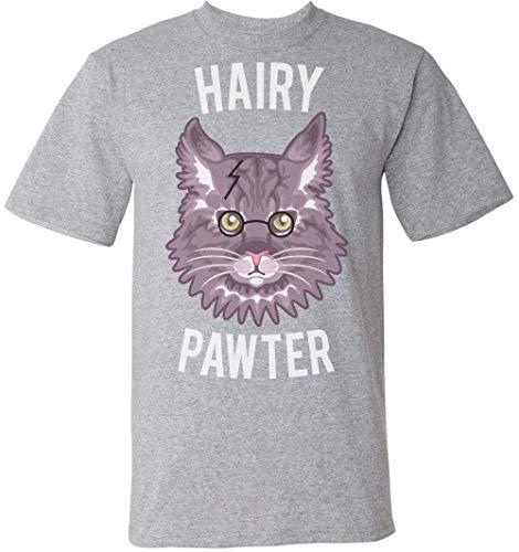 "WHITE//BLACKSize S-XXLCTN Harry Potter /""Hairy Pawter/"" Cats Novelty T-Shirt"