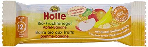 Holle Barre Pomme Banane Biologique pour bébé 25 g - Lot de 10