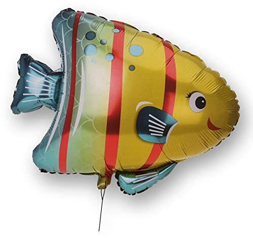 DKB Folienballon XL Helium Luftballon Kinder Ballon Deko Geburtstag Party Spiel (Fisch Gelb)