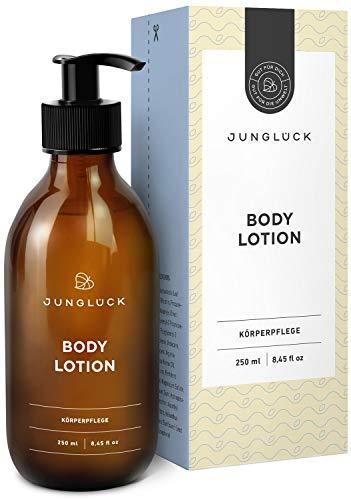 Junglück vegane Body Lotion in Braunglas - reichhaltige Lotion für den ganzen Körper -...
