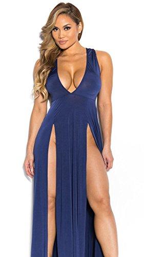 Il nuovo pannello esterno di estate Europa e gli Stati Uniti profonda V divide il vestito sexy dal nightclub del pannello esterno della forcella 1