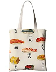 Fleurs de style japonais Illustrator Sac à bandoulière Voyage Sac à provisions Différents poissons