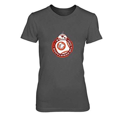 Join BB8 - Damen T-Shirt, Größe: S, Farbe: grau