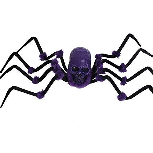 WSJDE Große spinne Scary Spielzeug Tier Horror Halloween Requisiten Dekoration für Frauen männer Kind Party Horror Requisiten leuchten Augen elektrischezi se