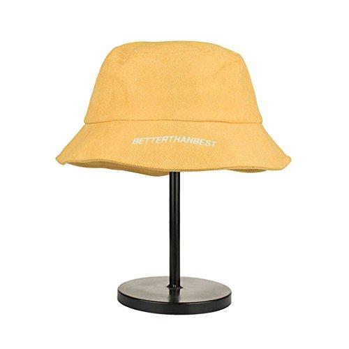 ZARLLE Sombrero De Pescador Bordados Cotton Plain Corta Aleros De Ala Ancha  Borde Redondo Anti- 6d803ca47a9