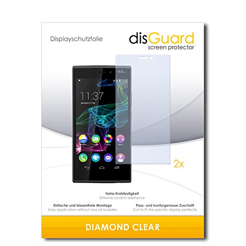2 x disGuard® Bildschirmschutzfolie Wiko Ridge 4G Schutzfolie Folie