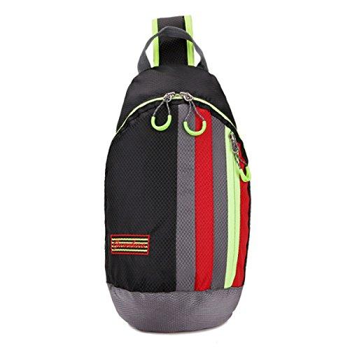 BULAGE Beutel Mode Natur Brusttasche Messenger Freizeit Sport Leicht Einfach Männer Und Frauen Reisen Nylon Wasserdicht Black