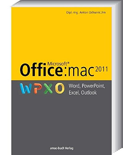 Office:mac 2011 - Word, PowerPoint, Excel, Outlook (Microsoft Word 2011)