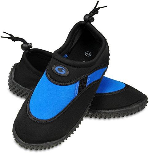 Gwinner le scarpe da acqua scarpe da surf aqua scarpe da signori Nero/Blu