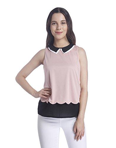 VERO MODA Women's Body Blouse Top (10173917_Bridal Rose_Medium)