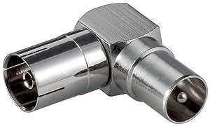 Metall-Winkeladapter Koaxial Stecker auf Koaxial Kuppl.