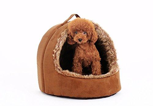 Winter Kennel Than Bear Chihuahua Welpen Welpen Welpen Pet Room Dog House Katzenstreu Vier Jahreszeiten Pet Room (Color : M 38 * 33 * 38CM) -
