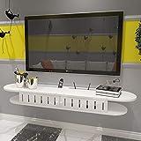 Regal Wandregal Wand-TV Schrank Regal TV Hintergrund Wand Dekoration Set Top Box Router DVD Regal TV-Konsole Wohnzimmer Schlafzimmer (größe : 120cm(2 Grid))