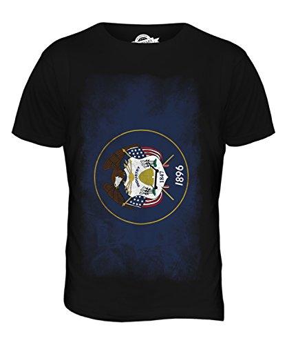 CandyMix Bundesstaat Utah Verblichen Flagge Herren T Shirt Schwarz