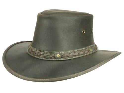Scippis Chapeau de Cuir Coopers Homme - marron