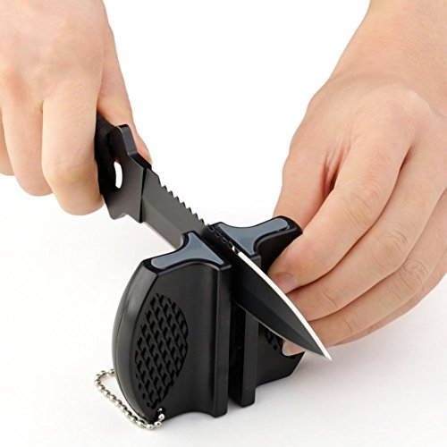 RuiChy Schleifmaschine für Küchenmesser oder Schere schwarz (Knife-edge Scissors)