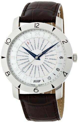 TISSOT - Montre Homme Tissot Heritage Navigator 160e Anniversary Automatique T0786411603700 Bracelet En Cuir Marron - T0786411603700