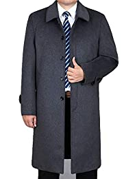a5517178fe661c HGDR Cappotto Invernale in Lana da Uomo Cappotto Lungo in Cashmere con  Collo A Manica Lunga