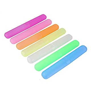Allbusky Kunststoff Zahnbürste Fall reisen Zahnbürste Inhaber Cover Aufbewahrung Schutz für täglichen Gebrauch und Reise mit tragbare Candy Farbe (Whole Body Cover)