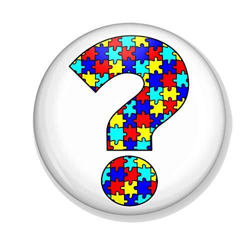 Gifts & Gadgets Co. Autismus Puzzle-Flaschenöffner, 58 mm Durchmesser, groß