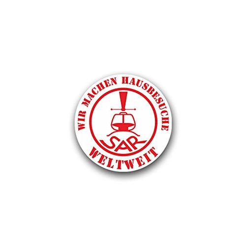 Aufkleber / Sticker - SAR Hausbesuche Weltweit Search and Rescue Suche und Rettung Luftfahrt Militär Bundeswehr Wappen 7x7cm #A1644 (Armee-luftfahrt-abzeichen)