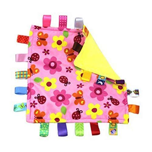 OPUSS Baby Sicherheits-Decke, Tag Schmusetuch Sicherheitsdecken, Baby Label Beruhigendes Handtuch, Multifunktions-Spielzeug
