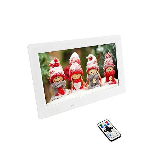10,1 Zoll (25,65cm) Digitaler Bilderrahmen mit Fotos-Musik-Video Funktion,Diashow,Uhr,Kalender,usw
