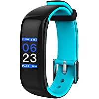 Aupalla Kids Activity Trackers with Heart Rate Monitor Sleep Monitor Smart Health Watch for Girls and Boys (Blue+Black)